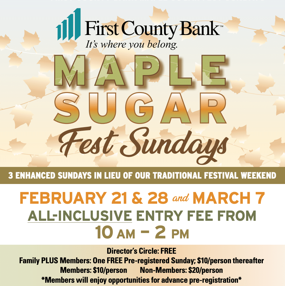 Maple Sugar Fest Sundays logo