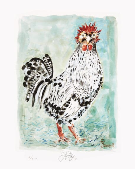 Mighty Fowl Jacques Pepin Art Unframed 457x573
